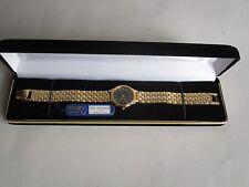 Seiko Women's Gold Tone Black Dial Watch SFW840P NEW