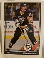 Jaromir Jagr Penguins 1990-91 O Pee Chee Rookie Card