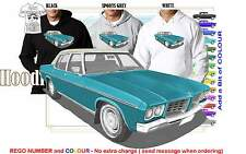 71-74 HQ HOLDEN STATESMAN HOODIE ILLUSTRATED CLASSIC RETRO MUSCLE SPORTS CAR