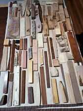 Large flat rate box of exotic wood and burl cutoffs and scraps, no reserve