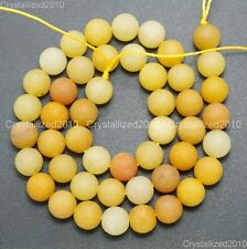 """Natural Matte Frosted Gemstone Round Loose Beads 4mm 6mm 8mm 10mm 12mm 15"""" Pick"""