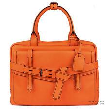 Reed Krakoff Vibrant Orange Leather Fighter Medium Bowling Bag Handbag