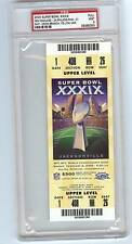 2005 SUPER BOWL XXXIX PSA 9 FULL TICKET VERY HIGH GRADE EAGLES PATRIOTS RARE