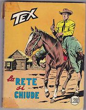 TEX N° 112 FEBBRAIO 1970 LA RETE SI CHIUDE L.200 1 EDIZIONE ORIGINALE  L-5