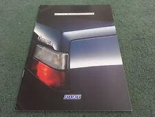 January 1989 Fiat CROMA inc TURBO i.e / TURBO D / KAT - GERMAN 38 PAGE BROCHURE