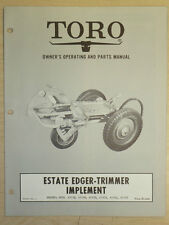 Toro Estate Edger Trimmer Owners, Operating And Parts Manual Implement