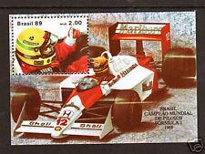 Brazil Sc 2164 MNH. 1989 Ayrton Sienna Formula 1 Souvenir Sheet