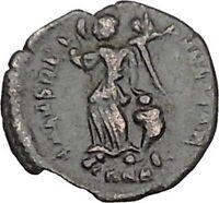ARCADIUS 388AD Ancient Roman Coin VICTORY Nike Cult  i40424
