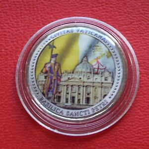Cold Enamel St.Peter's Basilica Vatican IN Coin Capsule