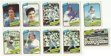 VINTAGE 1980 TOPPS MAJOR LEAGUE BASEBALL CARDS – SEATTLE MARINERS – MLB