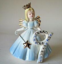 """Josef Originals 5"""" Birthday Angel Girl Figurine: 9 Year Old Blonde Blue Dress"""