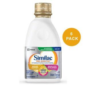 Similac Pro-Sensitive HMO Ready To Feed Infant Formula 32 oz(Pack of 6) EXP05/22