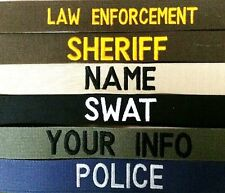 LAW ENFORCEMENT-SECURITY-TACTICAL NAME TAPE SEW ON