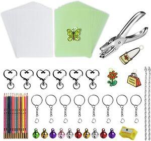 Luminous Shrink Plastic Sheets & Shrinky Art Paper Kit 10PCs Clear Plastic