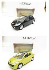 Lot de 2 Peugeot 207 3 Portes (Noir, Jaune) 1/64 NOREV Neuf !!