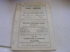 Vntg 1946 Benoit Wisconsin Telephone Book Includes Mason WI Numbers w/ Great Ads