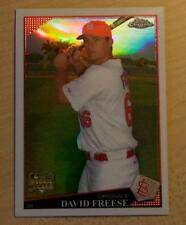 2009 TOPPS CHROME DAVID FREESE ROOKIE CARD REFRACTOR #199 PIRATES