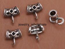 20pcs Tibetan Silver Charms Connectors Bail Beads Pendant DIY Jewelry 11mm A3057