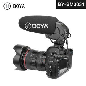 BOYA BY-BM3031 Condenser Shotgun Microphone Gain Control Low Cut Video Mic