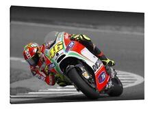 Valentino Rossi 30x20 pulgadas Ducati MotoGP enmarcado cuadro lienzo-Impresión de Arte