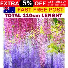 110CM Artificial Silk Wisteria Fake Garden Hanging Flower Plant Vine For Wedding
