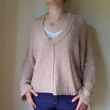 Sold Out TOPSHOP Beige Dusky Pink Nude Wool Knit Jumper 8 36 NWT £55