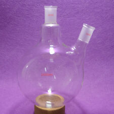 2000ml,24/40,2 Neck,Round Bottom Glass Flask,2L Reaction Vessel,Double Neck