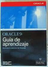 ORACLE 9i GUÍA DE APRENDIZAJE - VARIOS AUTORES ED. MAcGRAW-HILL 2002 VER INDICE