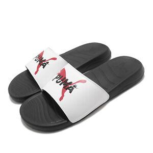 Puma Popcat 20 CS Black White Red Men Unisex Sports Sandal Slide 374778-01