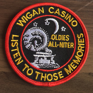WIGAN CASINO Listen To Those Memories New Iron Sew On Patch Northern Soul Scene