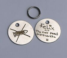 BULK BUY BARGAIN PACK OF 30 HAND ENGRAVED 20MM PET TAGS with individual gift box