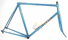 Vintage Racing Bike TESTI Lugged Steel FRAME FORK set Campagnolo Dropouts