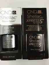 "CND SHELLAC ""XPRESS 5 TOP Coat + BASE COAT"" Gel Polish UV/LED Cure 5~60 second"