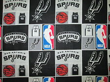 SAN ANTONIO SPURS CHECKED NBA LICENSED QUILTING COTTON FABRIC FQ