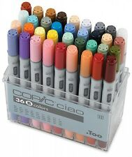 Too Copic Ciao Markers 36 Colors Set B New Free Shipping w/Tracking Manga Anime