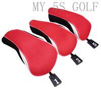 3X Golf Driver Fairway Wood Head Cover #1#3#5 for Titleist Mizuno Cobra Adams