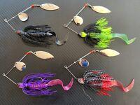 4x 1/2oz Murray Cod Spinnerbaits 14g Blade Spinner Bait Lures Bass Yella Perch