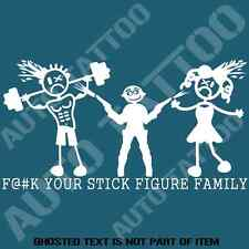 F@#K YOUR STICK FIGURE FAMILY DECAL STICKER FUNNY NOVELTY STICK FAMILY STICKERS