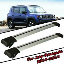 2x Top Roof Rack Cross Bar Cargo Carrier Anti-theft For Jeep Renegade 2014-2019