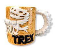 Swank T-REX Dinosaur Mug 1993 14 OZ Vintage Skeleton Fossil Cup Bones Spine Fun