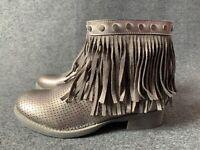 Weide women's shoes size 5 grey silver flats boots trainers EU 38 high top Rock