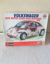 Modello Volkswagen New Beetle Flower Burago Metal Kit Made In Italy