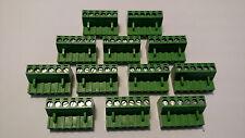 12 PCS 6 pin - 5.08mm / Quick Speaker Connector - Terminal Block - Phoenix Green