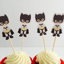 12x Batman Cupcake Topper Pick Fruit Jelly Cup Toppers *HANDMADE* Superhero