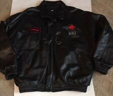 Honda Mens Freestyle Ski Acrobatique Leather Jacket XXL Lined Quilted Motor