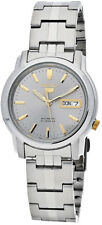 Seiko Automatic SNKK67 SNKK67K1 Mens Day Date Stainless Steel Watch