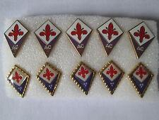 lotto 10 pins lot AC FIORENTINA FC club spilla football calcio badge pins spille