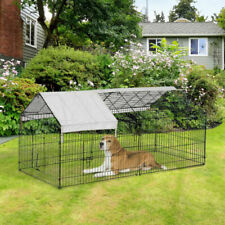 "Outdoor 87"" Large Dog Kennel Crate Pet Enclosure Playpen Run Cage House w/Cover"