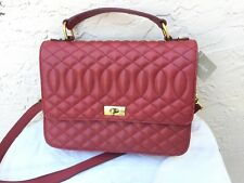J. CREW EDIE ICONIC RED QUILTED LEATHER SHOULDER BAG NWT $278