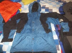 The North Face Mountain Light Parka Gore-tex Jacket Coat Ocean Blue TNF Medium